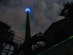 Blaulicht, Landschaftspark Duisburg - Foto: S. Hopp