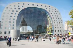 The Market Hall in Rotterdam is quite impressive and has had media attention from all over the world. Netherlands Tourism, Rotterdam Netherlands, Glamping, Holland, Safari, Hotels, Sea Level, City Break, 3d Design