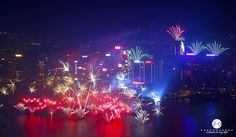 Hong Kong countdown 2014 fireworks by Jess Yu on 500px