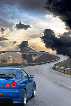 The things I would do to be in this Nissan Skyline GT-R r34 at this very moment #thatview #incredible