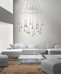 crystal lights led chandeliers living room coffee table round amber