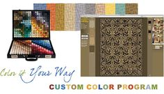 Kalaty is offering you a custom coloring and custom size service in which you can order your rug in any size and in any color you want. A custom-colored Kalaty rug can be ordered through an authorized dealer in a surprisingly short lead-time.