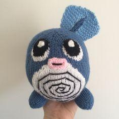 Poliwag toy knitting pattern pokemon plushie pattern amigurumi