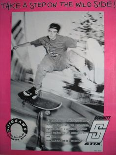 Schmitt Stix ad Featuring Ed Templeton Skateboard Mag, Skateboard Pictures, Old Photography, Street Photography, Huntington Beach High School, Ed Templeton, Arte Punk, Thrasher Magazine, Vintage Skateboards