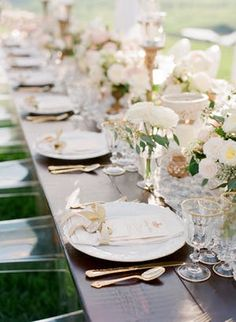 #gold flatware | PHOTOGRAPHY Jose Villa Photography | WEDDING PLANNERS & INVITATiONS Masi Events | VINTAGE RENTALS Unearthed Vintage | VIDEOGRAPHY Origami Videography | FLORIST La Rosa Canina | WEDDING CAKE Melanie Seccaini | HAIR AND MAKEUP Lara Navarrini
