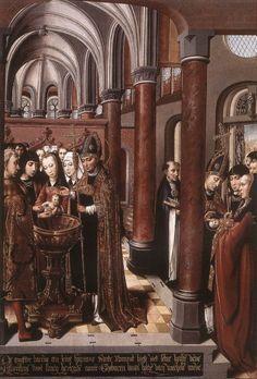Colijn de Coter - Baptism of St Libertus -1490s St. Rumbold's Cathedral, Mechelen, Belgium