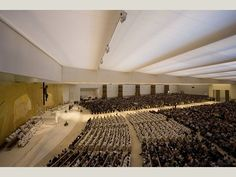 Church of the Most Holy Trinity, Fatima, Portugal in 2008 by A. N. Tombazis and Associates Architects, Athens, Greece