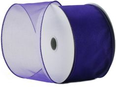 Wired Edge Organza Ribbon - Purple Roll of Ribbon - 25 yards ** Read more reviews of the product by visiting the link on the image.