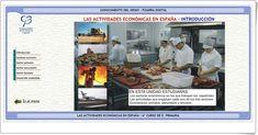 """""""Las actividades económicas en España"""" (Aplicación interactiva de Ciencias Sociales de Primaria)"""