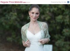 SALE Plus size wedding cover up moss green loop shawl by noavider