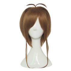 HAIRJOY Wysokiej Jakości Jasnobrązowy Karty Captor Sakura Cosplay Peruki Prosta Dziewczyna Włosy Syntetyczne Party Wig