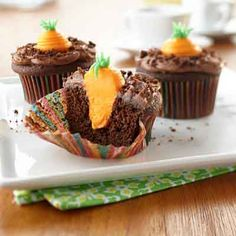 Carrot Patch Cupcakes from Land O'Lakes
