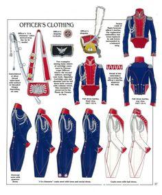 Capi di vestiario da ufficiali dei lancieri polacchi del 1 rgt. cavalleggeri della guardia imperiale,  1804-1815