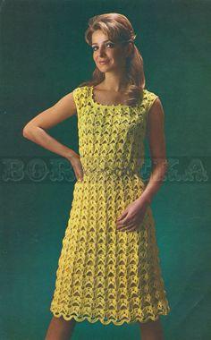 vintage DRESS crochet pattern 60s PDF by borisbeka on Etsy