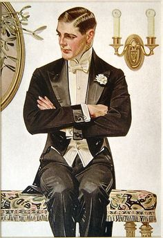 White Tie by J C Leyendecker (German/American 1874- 1951)