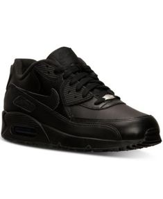 7a4e44ef4bca Nike Men s Air Max 90 Leather Running Sneakers from Finish Line Men -  Finish Line Athletic Shoes - Macy s