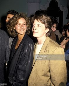 Michael J. Fox and Jennifer Grey 1986 Jennifer Grey, Michael J. Fox, Pretty In Pink, Madonna Images, J Fox, Grey Pictures, Good Looking Men, Famous Faces, Movies Showing