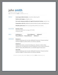 free resume templates download entry level template sample