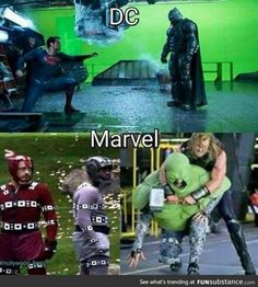 Behind the scenes marvel avengers, grappige strips, marvel films, batman vs Marvel Dc Comics, Math Comics, Marvel Funny, Marvel Avengers, Funny Batman, Dc Memes, Funny Memes, Humor Batman, Movie Special Effects