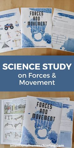 Forces and Movement Homeschool Science Subject Study - a great homeschool science unit study for elementary Homeschool Curriculum, Homeschooling, School Subjects, Learning Resources, Lesson Plans, Blogging, Encouragement, Study, Science