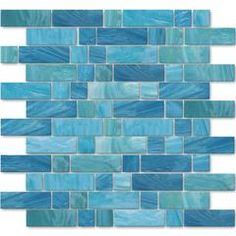Our vibrant glass mosaic tiles come in multiple finishes. They're ideal for kitchens, bathrooms, swimming pools and more. Order your glass mosaic pool tiles today. Glass Pool Tile, Glass Mosaic Tiles, Cottage Showers, Brighton, Blue Kitchen Decor, Kitchen Ideas, Kitchen Tile, Tiles Online, Blue Tiles