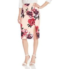 Keepsake The Label Women's Floral Printed Feel The Fire Pencil Skirt