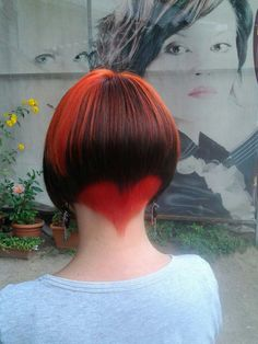 Dimensional Red/Heart Hair