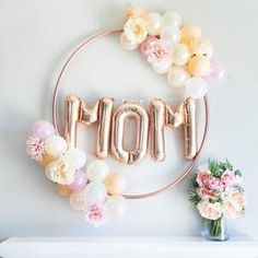 Mom balloon banner rose gold silver balloon garland mother s day soiree love diy mother s day brunch table runner Mothers Day Event, Mothers Day Decor, Mothers Day Crafts For Kids, Mothers Day Brunch, Mother Day Gifts, Mothers Day Ideas, Happy Mothers Day Banner, Happy Mom Day, Mothers Day Balloons