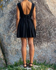 Hadeda Vintage Jade Black Ballerina Dress
