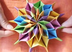 Celebrate New Year's with Origami Fireworks video tutorial (complex but beautiful!) on Craftfoxes at https://www.craftfoxes.com/blog/celebrate-new-year-s-with-origami-fireworks