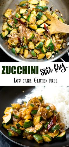 This flavour-packed Zucchini Stir Fry gets ready in 15 mins. Make this super qui… This flavour-packed Zucchini Stir Fry gets ready in 15 mins. Make this super quick stir fry with Onion, Garlic, Zucchini tossed in a simple sauce. Zucchini Stir Fry, Vegan Zucchini Recipes, Veggie Stir Fry, Vegetable Recipes, Healthy Recipes, Vegetarian Stir Fry, Stir Fried Vegetables Recipe, Zucchini Onion Recipe, Stir Fry Squash