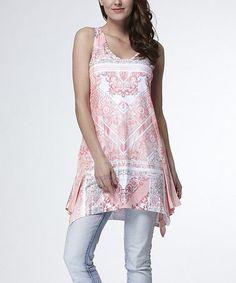 Look what I found on #zulily! Pink Geometric Handkerchief Tunic - Plus #zulilyfinds