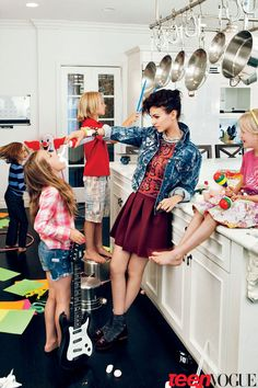 My favorite Teen Vogue photo shoot. Everything about it is so fun! The setting and the addition of the crazy kids make the photo so intriguing, and then the outfit and the makeup/hair are adorable and are perfect with the background. Nothing is too overpowering, and it all works together perfectly. My dream is to be the stylist for at least one Teen Vogue shoot. Every single shoot is different and has something so enticing about it.