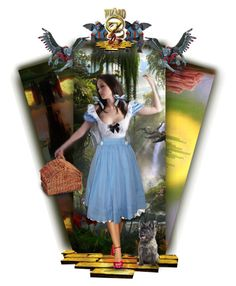 """""""Follow the Yellow Brick Road"""" by auntiehelen ❤ liked on Polyvore featuring art"""