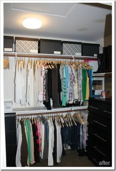 How to organize your closet on a budget.