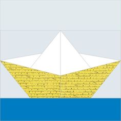 Origami boat paper pieced quilt by RightPatterns