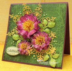 Heartfelt Creations: Magenta Arianna Blooms - many great project instructions on this page too