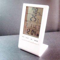 mini office digital lcd thermometer-hygrometer ,dual humidity -temperature senors ,free shipping.