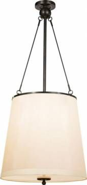 for entry stairway    Jonas Pendant in Bronze with Silk Shade Shade Details: 14
