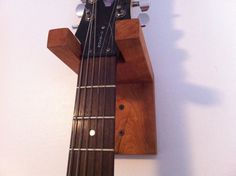 Guitar Hanger Wall Mount Solid Cherry by JDrewCarpentry on Etsy