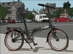 Last year, i won a superb @Dahon Bikes vitesse d7. Now, me and Tapaforats made this illustration/artprint to #Dahon. I hope they like it! www.tapaforats.com