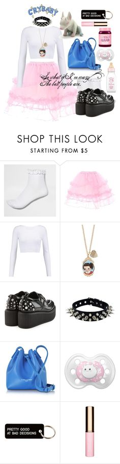 """""""Melanie Martinez"""" by catthepunisher ❤ liked on Polyvore featuring River Island, Cushnie Et Ochs, Hot Topic, Karl Lagerfeld, Lancaster, cutekawaii, Various Projects, Clarins and Lime Crime"""