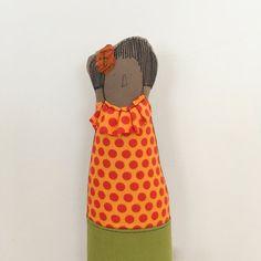 African Woman doll  handmad cloth portrait doll  by TIMOHANDMADE