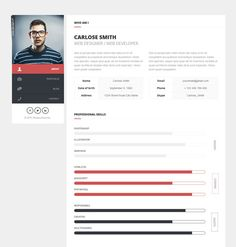 Html Resume Templates  Free Samples Examples Format