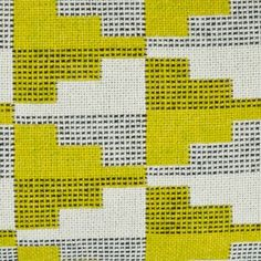 I find this piece so interesting and contemporary! The beautiful clash of lime green is so harsh and bold against the monochrome weave. It's eye-catching and bold.
