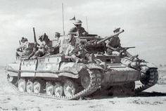 Valentine III in Nordafrika mit aufgesessener schottischer Infanterie