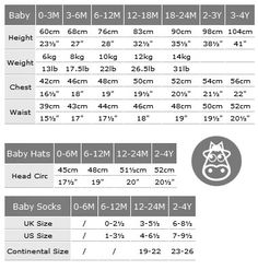 Child Size measurements. for crocheting, knitting, and sewing ...