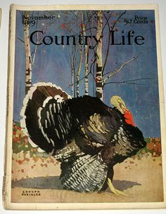 November 1919 Country Life Magazine by cali_librarian Thanksgiving Blessings, Thanksgiving Greetings, Vintage Thanksgiving, Thanksgiving Holiday, Old Magazines, Vintage Magazines, Vintage Labels, Vintage Posters, Country Life Magazine