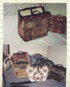 Wonderful directions for making these carpet bags.