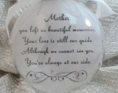 In Memory Ornament of Loved One A Feather by ShopCreativeCanvas